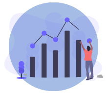 Customers stats & insights Icon