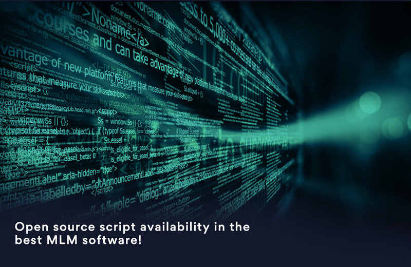 Open source script availability in the best MLM software!