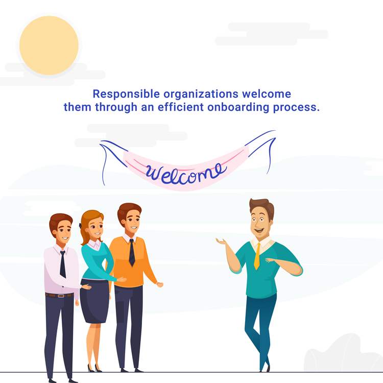 Engaging onboarding process