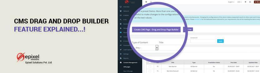 Drag and drop builder in network marketing software