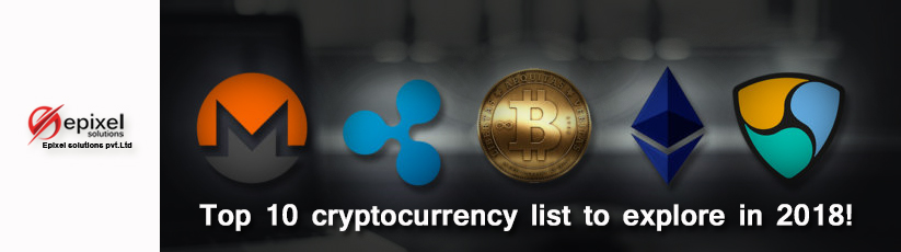 top #10 cryptocurrency list 2018